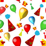 Birthday party seamless pattern Stock Image