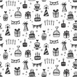 Birthday party seamless patterns Royalty Free Stock Photography