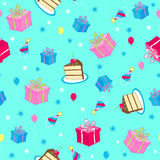Birthday Party Seamless Repeat Pattern Vector