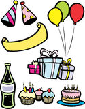 Birthday Party Set Royalty Free Stock Photo