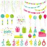 Birthday and Party Set Royalty Free Stock Image