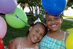 Birthday party sisters Royalty Free Stock Photo