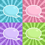 Birthday Party Speech bubbles Stock Image