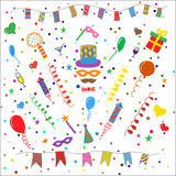 Birthday party symbols collection Stock Photo