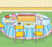 Birthday party table Royalty Free Stock Image
