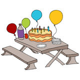 Birthday Party Table Royalty Free Stock Images