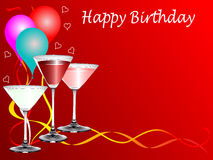 A birthday party template Royalty Free Stock Images