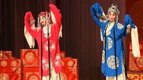 """Birthday party turned into mourning- Beijing Opera"""" Women Generals of Yang Family"""" stock video footage"""