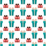Birthday party vector celebratory seamless pattern with garlands balloons holiday confetti hearts surprise carnival. Background decoration. Fun greeting stock illustration