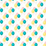 Birthday party vector celebratory seamless pattern with garlands holiday confetti balloon surprise carnival background. Decoration. Fun greeting wallpaper vector illustration