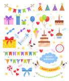 Birthday party vector set Stock Images