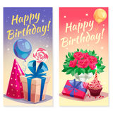 Birthday Party Vertical Banners Royalty Free Stock Photos