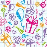 Birthday pattern Royalty Free Stock Images