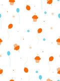 Birthday pattern Stock Photography