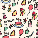 Birthday Pattern Royalty Free Stock Photos