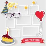 Birthday photo frame Stock Images