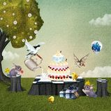 Birthday picnic Stock Image