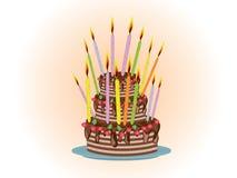 Birthday pie Royalty Free Stock Photography
