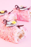 Birthday  pink cakes Royalty Free Stock Photography