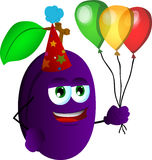 Birthday plum Stock Photo