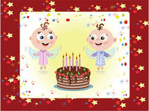 Birthday postcard Stock Photography