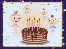 Birthday postcard Royalty Free Stock Photos