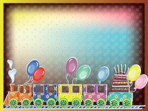 Birthday postcard Royalty Free Stock Image