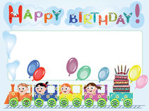 Birthday postcard Royalty Free Stock Photography