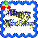 Birthday poster Royalty Free Stock Image