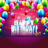 Birthday poster Royalty Free Stock Photo