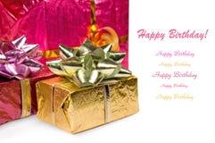 Birthday presents Stock Image