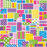 Birthday presents pattern Royalty Free Stock Images