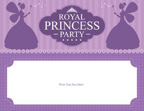 Birthday Princess card design Stock Image