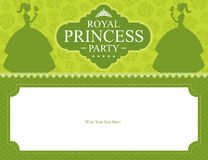 Birthday Princess card design Stock Photos