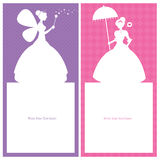 Birthday Princess card design Royalty Free Stock Image