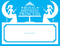 Birthday Princess card design Royalty Free Stock Photo