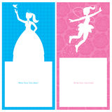 Birthday Princess card design Royalty Free Stock Photos