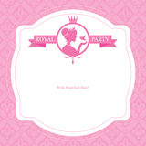 Birthday Princess card design Stock Photo