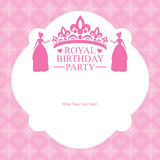 Birthday Princess card design Stock Photography