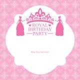 Birthday Princess card design Stock Photography