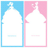 Birthday Princess card design Royalty Free Stock Photos