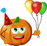 Birthday pumpkin Royalty Free Stock Images