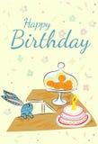 Birthday rabbit Royalty Free Stock Images