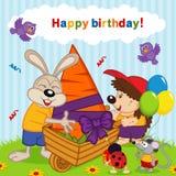 Birthday rabbit Royalty Free Stock Photo