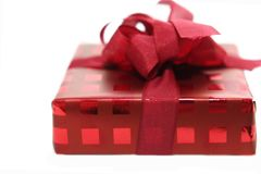 Birthday red box. Over white Stock Photo