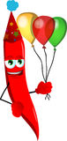 Birthday red hot chili pepper Royalty Free Stock Photos