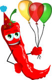 Birthday red hot chili pepper Royalty Free Stock Photography