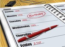 Birthday reminder royalty free stock photos
