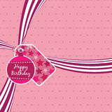 Birthday ribbon Royalty Free Stock Images