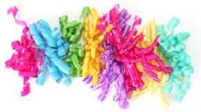 Birthday ribbon. Happy birthday ribbon closeup,  on white Royalty Free Stock Photo